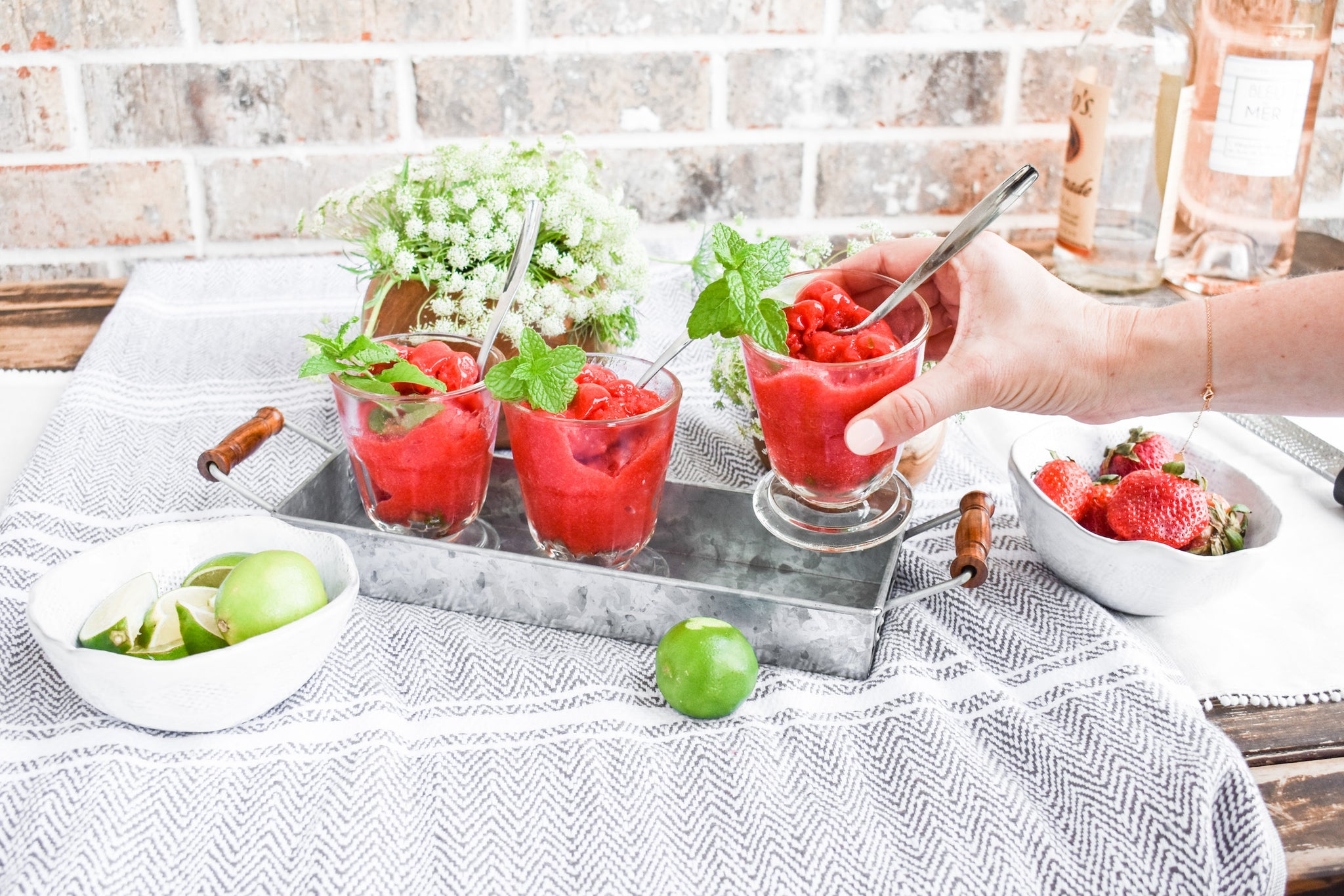 A Refreshing Strawberry Granita Recipe featured by top hosting goods store, Mostess