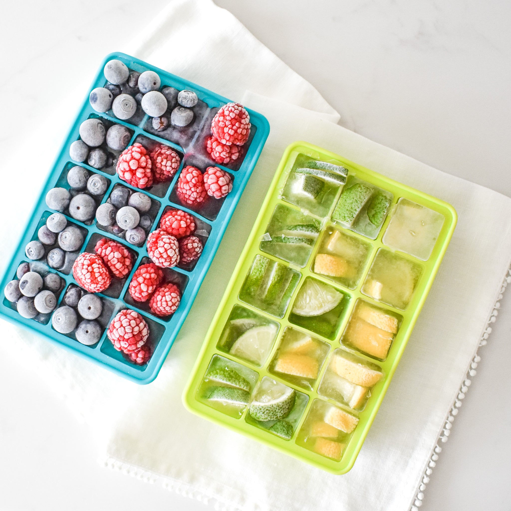 How to Make Fruit Ice Cubes, a tutorial featured by top hosting gifting online store, Mostess