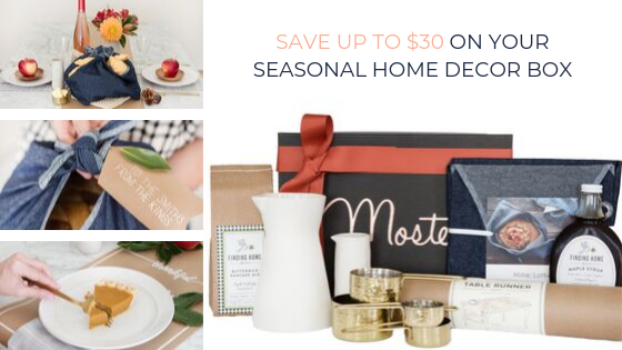 mostess seasonal membership home decor box
