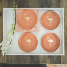 Load image into Gallery viewer, Flamingo Patio Party Plates (4)