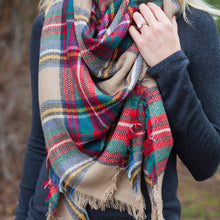 Load image into Gallery viewer, Mostess Signature Plaid Blanket Scarf