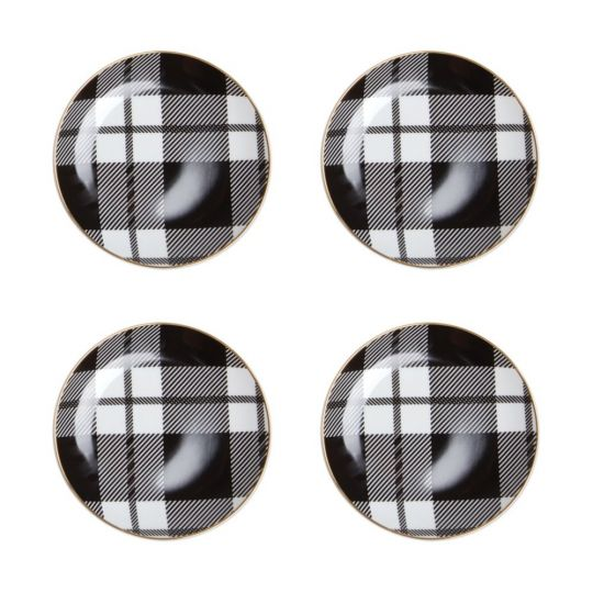 Plaid Dessert Plates (set of 4)