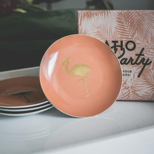 Flamingo Patio Party Plates (4)