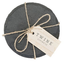 Load image into Gallery viewer, Slate Circle Coasters - Final Sale