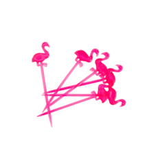 Load image into Gallery viewer, Flamingo Toothpicks (24)