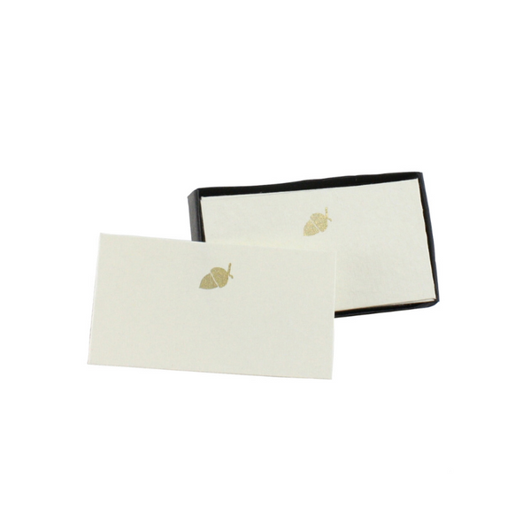 Gold Acorn Place Cards (32 count) - Final Sale