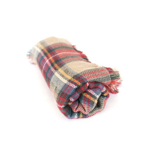 Mostess Signature Plaid Blanket Scarf