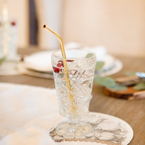 Polished Gold Metal Straws (set of 4)