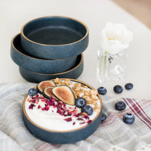 Load image into Gallery viewer, Blue Stoneware Bowls (set of 4)