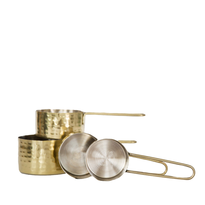 Stainless Steel Gold Measuring Cups, Set of 4