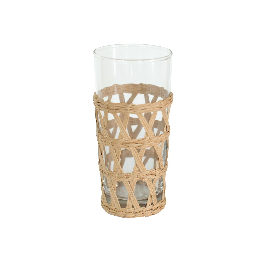 Hand-Woven Lattice Tall Glass