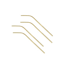 Load image into Gallery viewer, Polished Gold Metal Straws (set of 4)