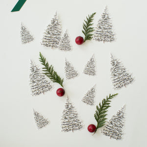 Winter Tree Party Decor Cutouts (set of 12)