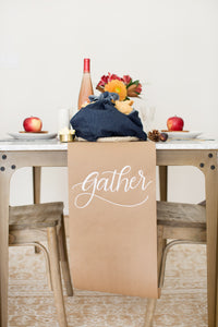 Kraft Table Runner & Wrapping Paper