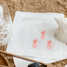 Load image into Gallery viewer, Embroidered Pineapple Cocktail Napkins