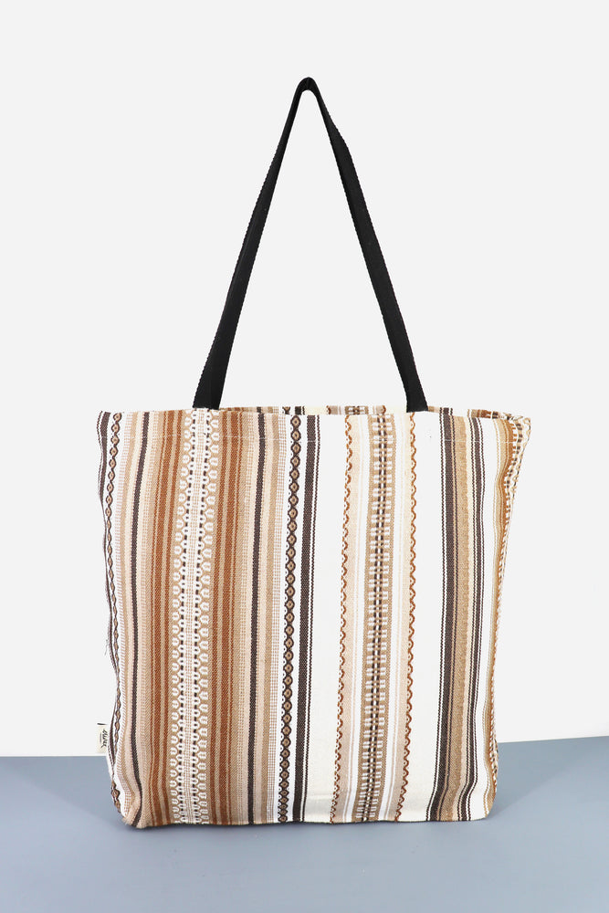 Tote Bag alpujarra crudo y marrón