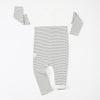 Lined Classic Stripes Zip Romper