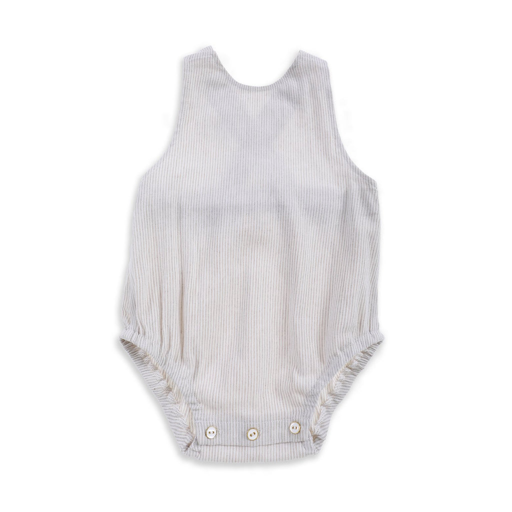 Lindy Rama-Ellis Goldie Romper - Natural Stripe