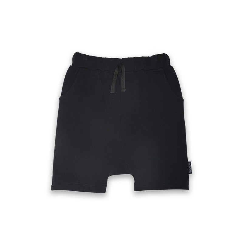 Organic Black Relaxed Shorts