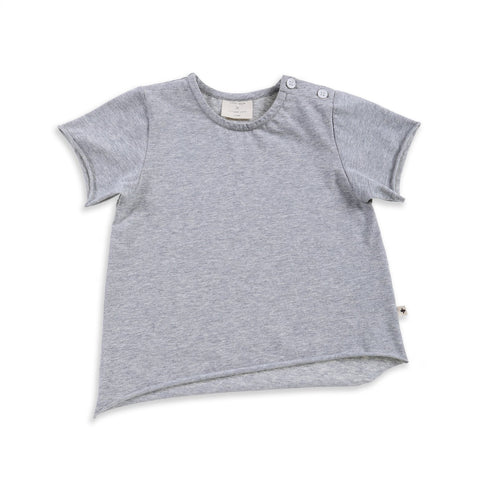 Terry Cropped Tee Blush