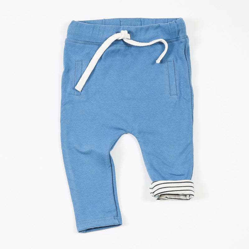 Lined Bluewash Slouch Pants