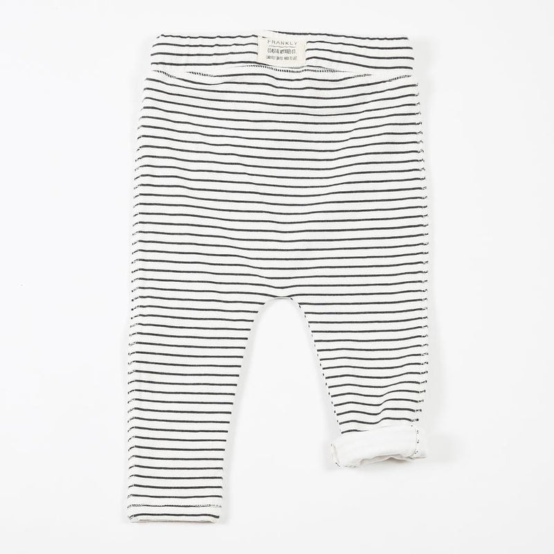 Lined Striped Slouch Pants