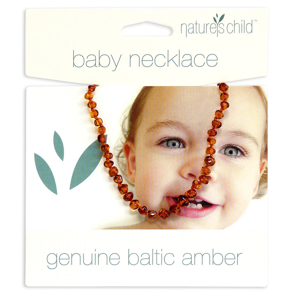 Amber Teething Necklace - Cognac