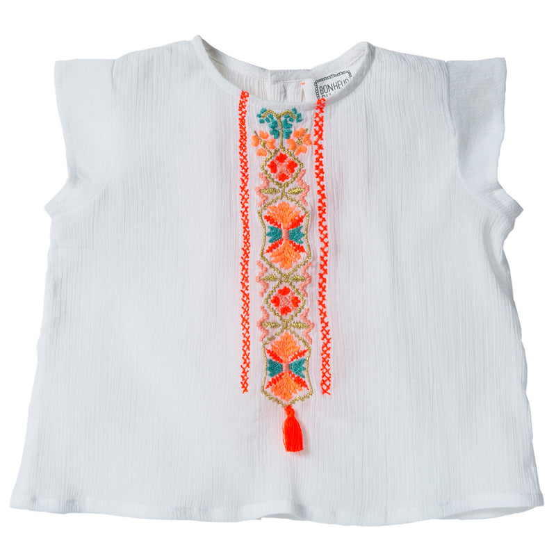 Armour Top with Embroidered Detail