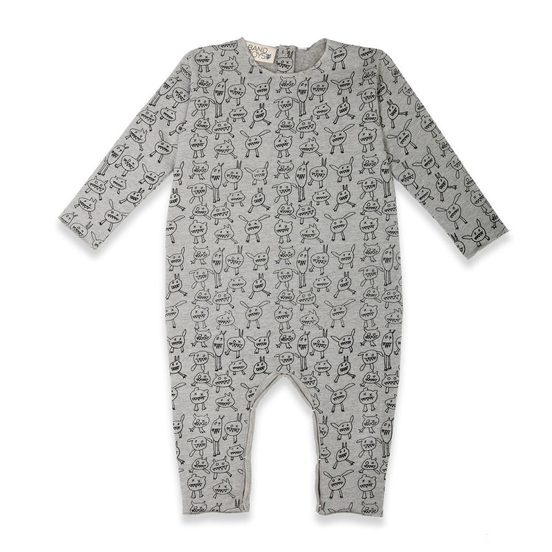 Organic Baby Monster Mash Up Romper