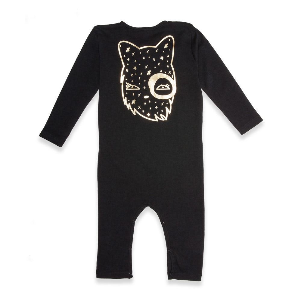 Organic Baby Minky Button Front Romper