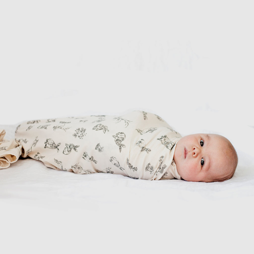 Grey Print Burrowers Swaddle