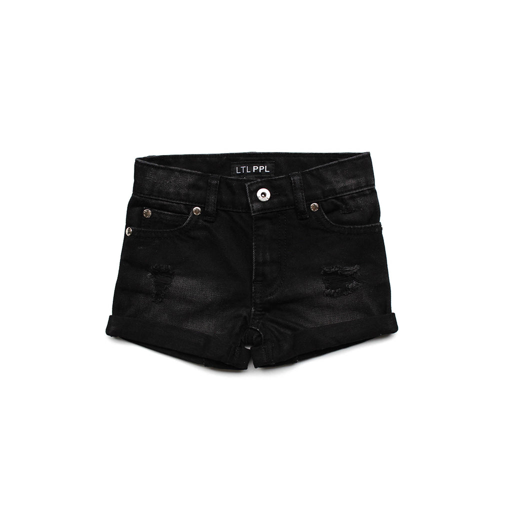Black Denim Shorts