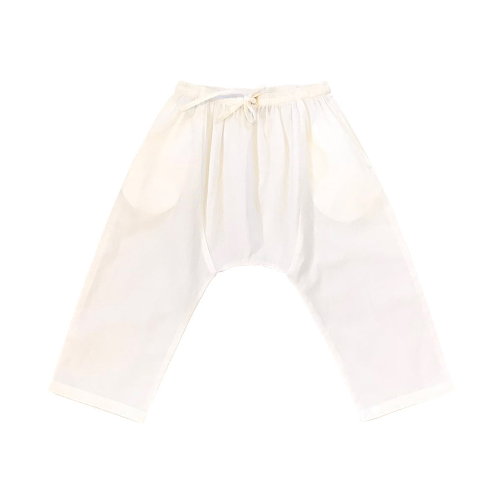 Cropped Slouchie Pants - White