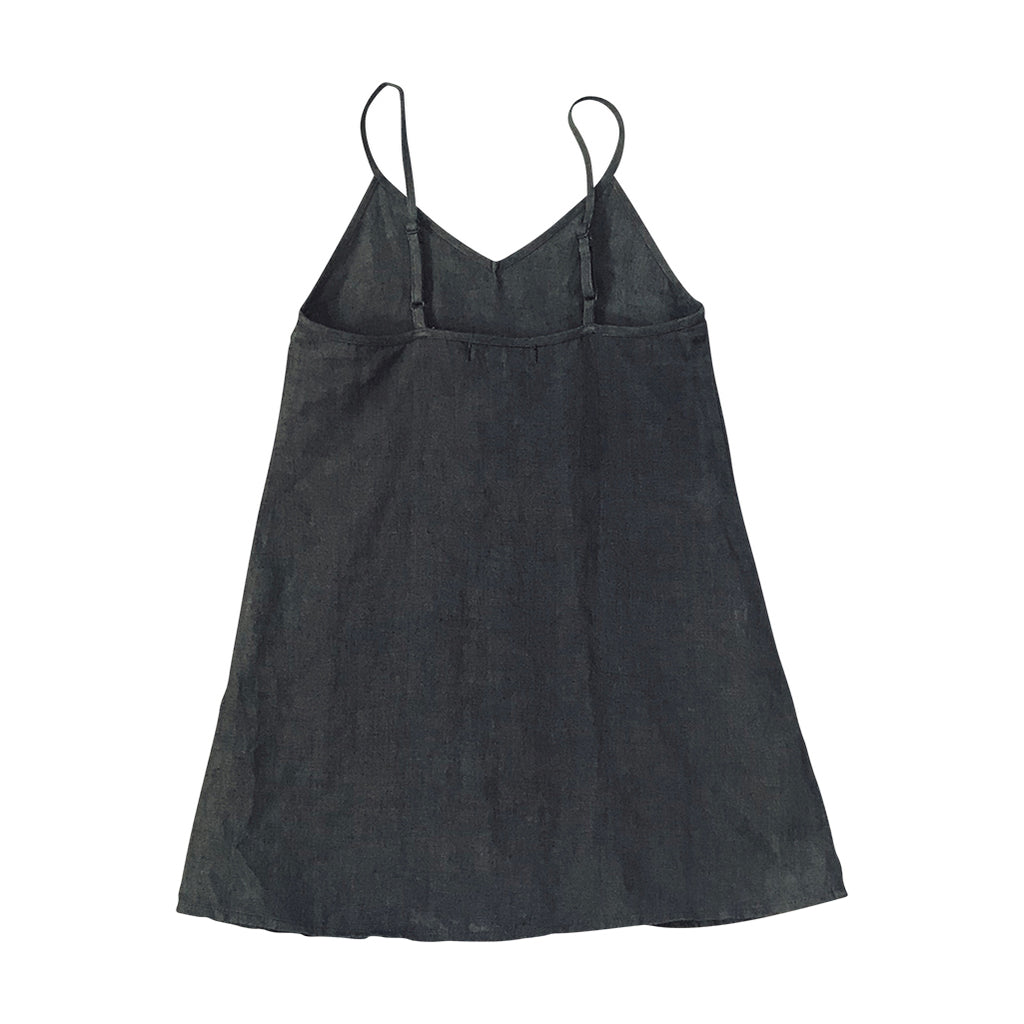 Mia Slip Dress - Gunmetal