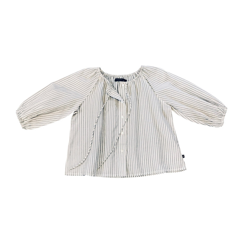 Lily Blouse - Grey Stripe
