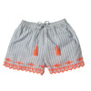 Doline Embroidered Striped Shorts