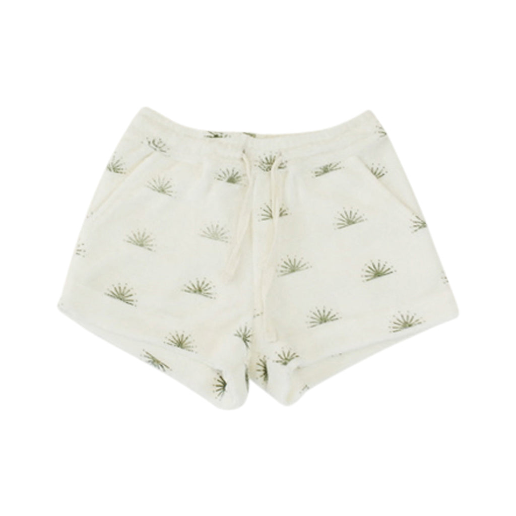 Double Hem Terry Towel Shorts - Rising Sun