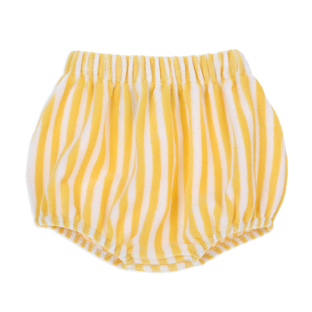 Gigi Terry Towelling Bloomers Yellow Stripe