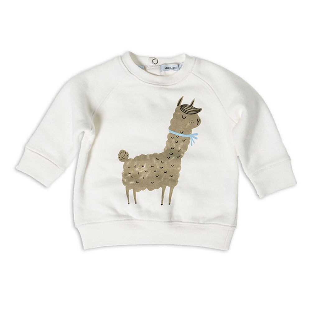 Ronald The Llama Terry Sweater