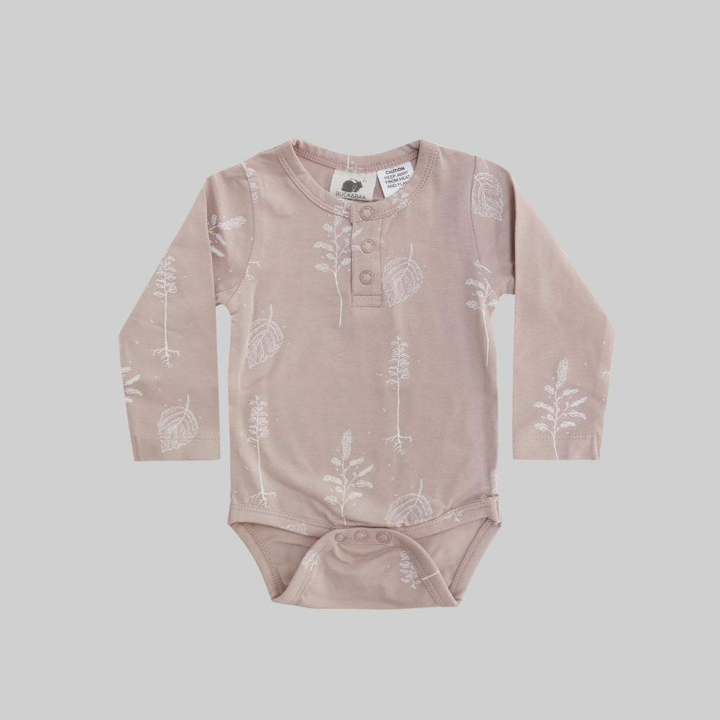 Henley Bodysuit - Shadow Pink