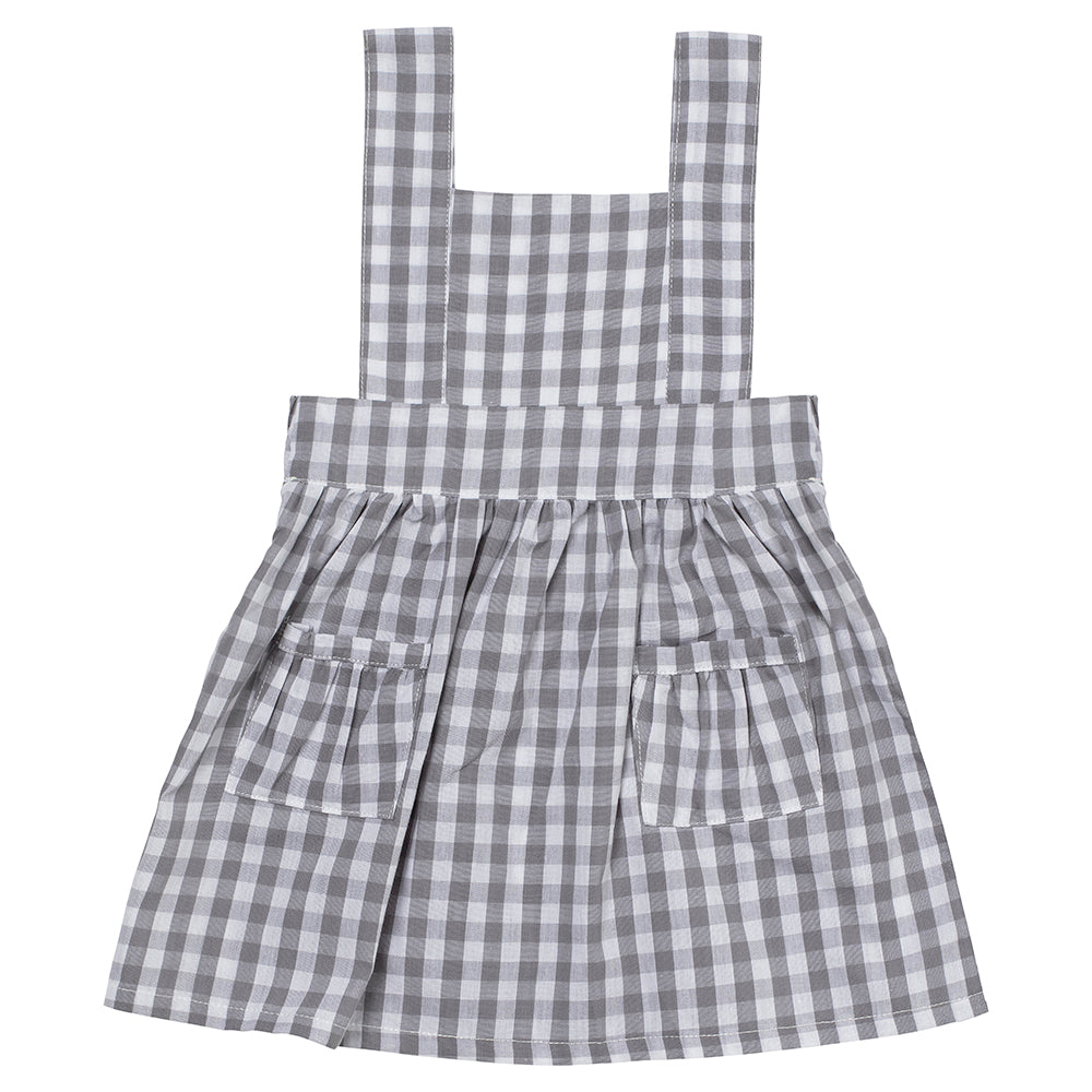 Grey Gingham Pinny Dress