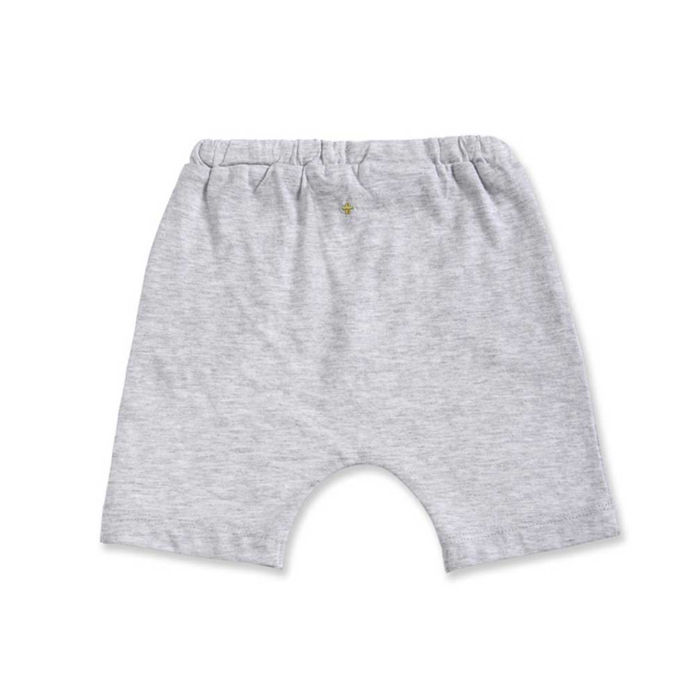 Kai Jersey Marle Shorts Light Grey