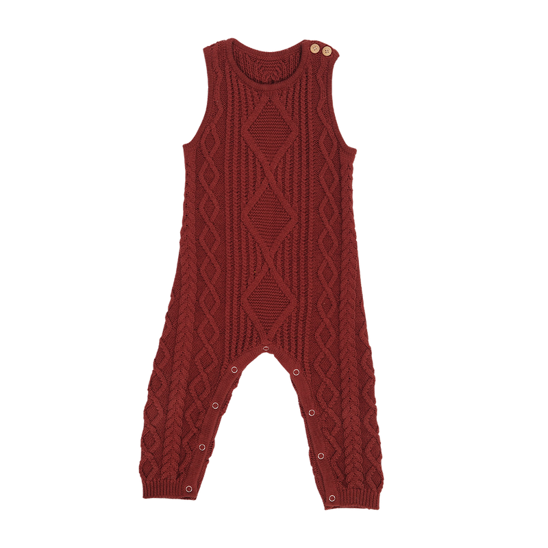 Cable Knit One-Piece - Ketchup