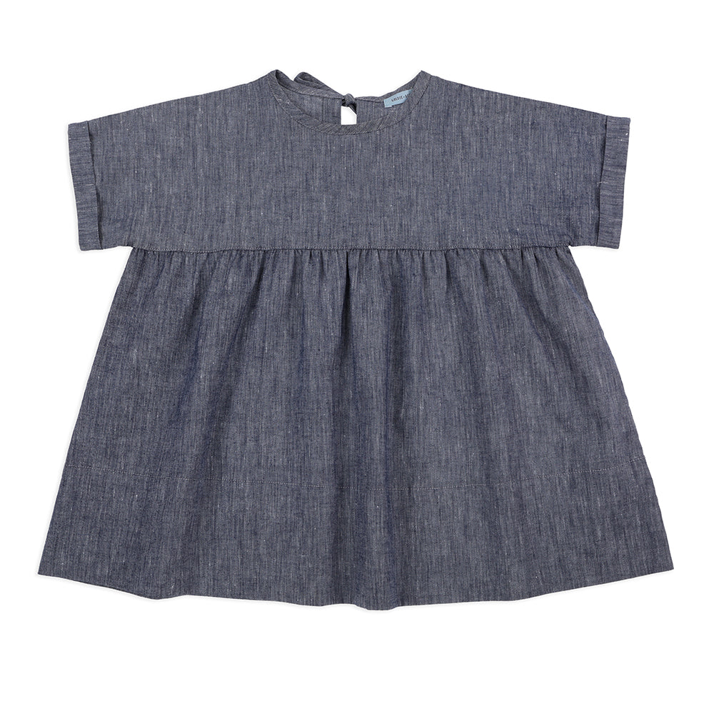 Lulu Dress Navy Marle