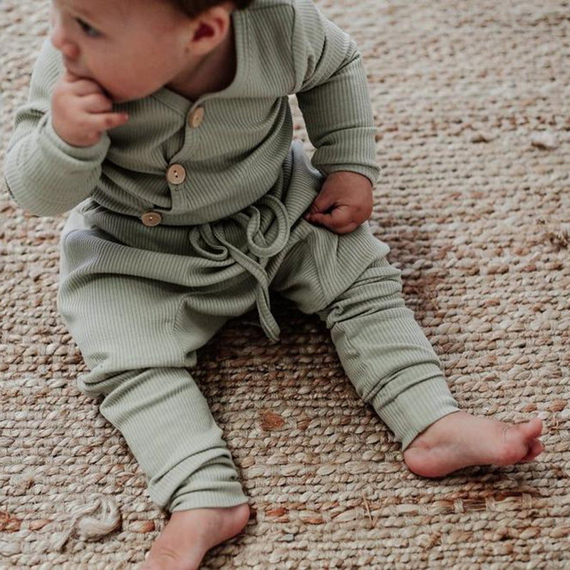 Olive Long Sleeve Bodysuit