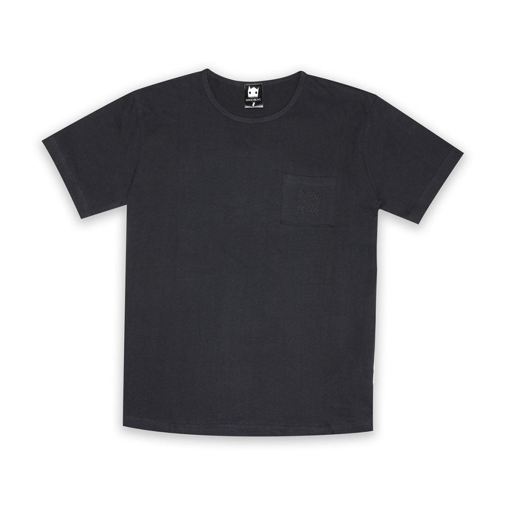 Organic Black Pocket Tee