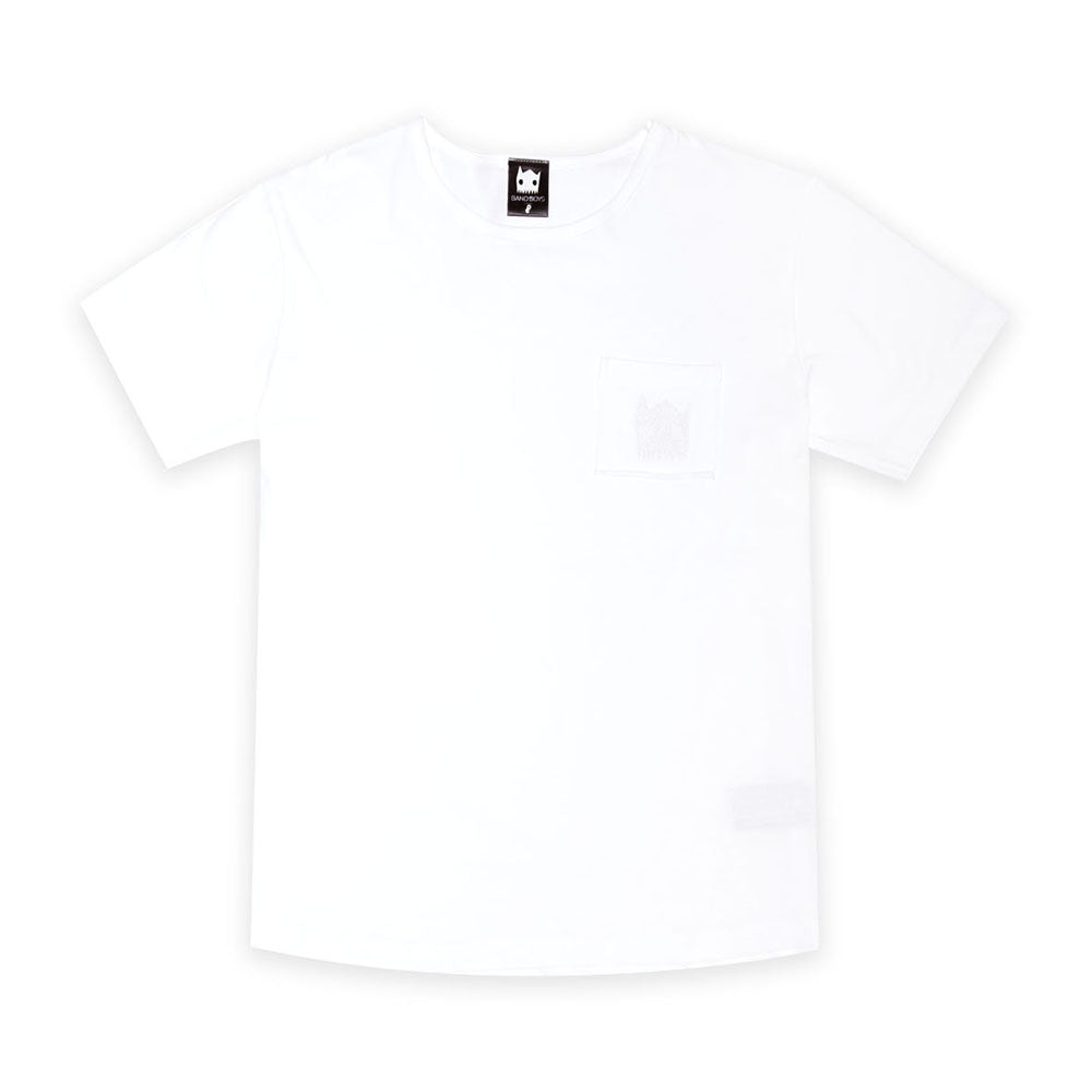 Organic White Pocket Tee