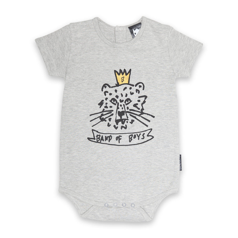 Organic Baby Crown Tiger Shortsleeve Onesie