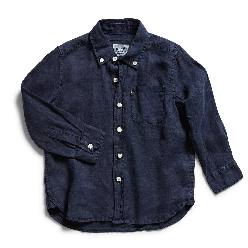 Rookie Hampton Linen Shirt - Navy