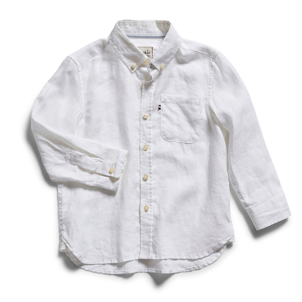 Rookie Hampton Linen Shirt - White